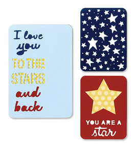 Thinlits Die Set, Stars - Sizzix