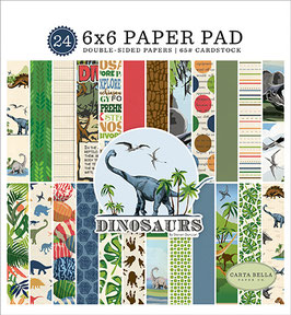Dinosaurs 6x6 Paperpad - Carta Bella