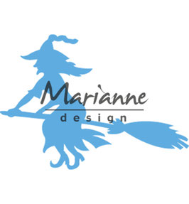 "Creatable ""Witch On Broomstick"" - Marianne Design"