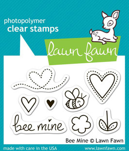 "Clearstamp ""Bee Mine"" - Lawn Fawn"