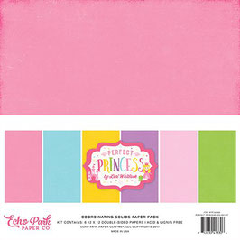 Perfect Princess Coordinating Solids Paper Pack - Echo Park