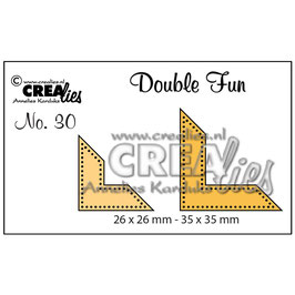 "Double Fun Cutting Die #30 ""Corners With Dots"" - Crealies"