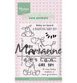 Eline's Zebra & Donkey - Marianne Design