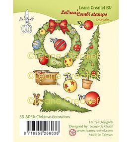 """Clearstamp """"Weihnachtsdekoration"""" - Leane Creatief"""