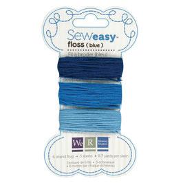 SewEasy - Stickgarn Blautöne