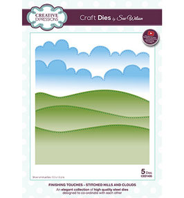 Stitched Hills and Clouds - Creative Expressions