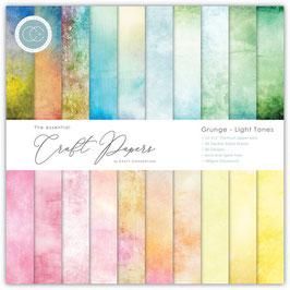 Grunge Light Tones 6x6 Paperpad - Craft Consortium
