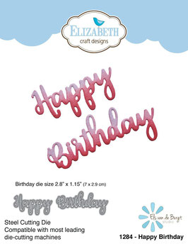 "Stanzschablone ""Happy Birthday"" - Elizabeth Craft Designs"