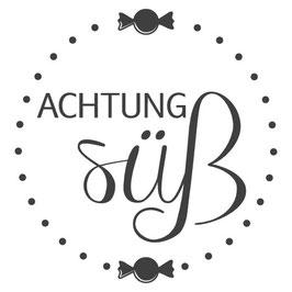 "Holzstempel ""Achtung süß"""