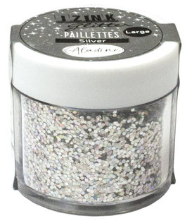 Izink Glitter Pot Silver - Aladine