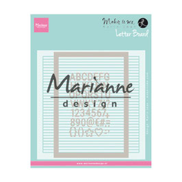 "Prägeschablone ""Letter Board"" - Marianne Design"