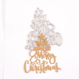 "Stanzschablone ""Wish You A Merry Christmas"" - Mundart Stempel"