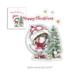 """Clearstamp """"Winnie Christmas Tree"""" - Polkadoodles"""