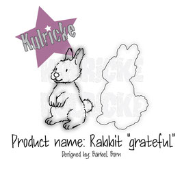 "Stempel- und Stanzenset ""Rabbit Grateful"" - Kulricke"
