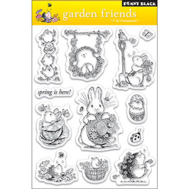 "Clearstamp ""Garden Friends"" - Penny Black"