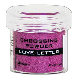 "Embossingpulver ""Metallic Love Letter"" - Ranger"