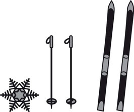 Craftable Skis and Snowflakes - Marianne Design