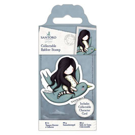 Gorjuss Collectable Mini Rubber Stamp No.59 Flying Above It All - Santoro