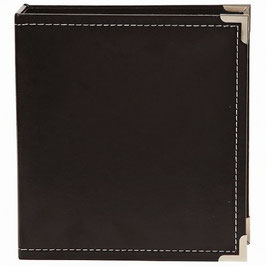 SN@P! Faux Leather Album 6x8 Inch, Black