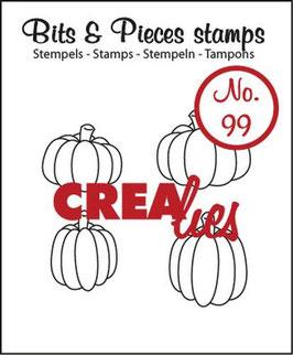 """Clearstamps Bits&Pieces """"Kürbisse"""" - Crealies"""