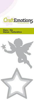 """Stanzschablone """"Christmas Angel with Star"""" - CraftEmotions"""