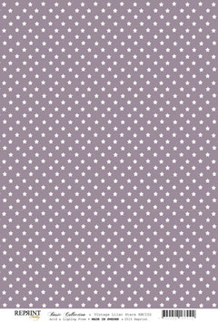 Vintage Purple Stars - Reprint