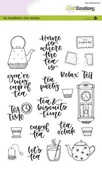 """Clearstamp """"Handletter - Tea Time"""" - CraftEmotions"""