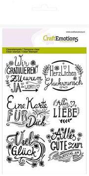 "Clearstamps ""Wir gratulieren...."" - CraftEmotions"