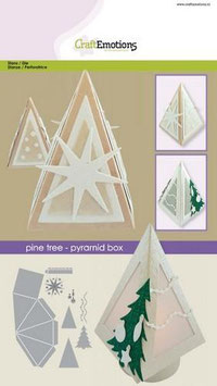 Pine Tree Pyramiden Box - CraftEmotions