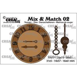 """Stanzschablone """"Mix&Match #02, Uhr mit Kette und Pendel"""" - Crealies"""