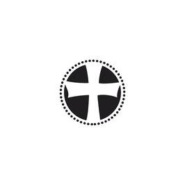 Holzstempel - Kreuz rund