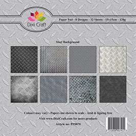 "Paper Pack ""Steel Background"" - Dixi Craft"