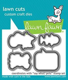 "Stanzschablone ""Say What?' Pets"" -  Lawn Fawn"