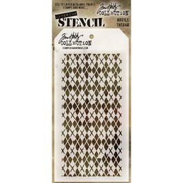 """Layered Stencil """"Argyle"""" - Tim Holtz"""