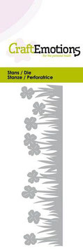 """Stanzschablone """"Grass Border With Clover"""" - CraftEmotions"""