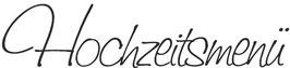 """Holzstempel """"Hochzeitsmenü"""""""