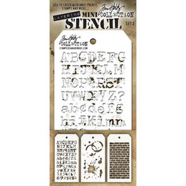 Mini Stencil Set #3 - Tim Holtz
