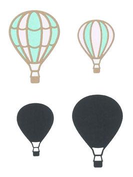 """Stanzschablone """"Heißluftballons"""" - Impronte D'Autore"""