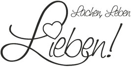 "Holzstempel ""Lachen Leben Lieben"""