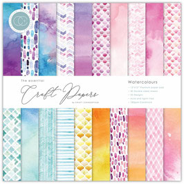 Watercolours 6x6 Paperpad - Craft Consortium