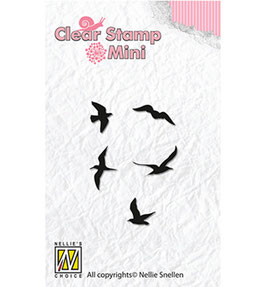 "Mini Clear Stamps ""Birds"" - Nellie's Choice"