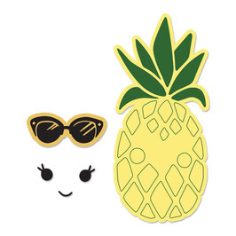 "Framelits Die Set With Stamp ""Sunny Pineapple"" - Sizzix"