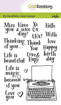 """Clearstamp """"Handletter - Typewriter Quotes"""" - CraftEmotions"""