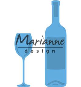 "Creatable ""Wine Bottle & Glass"" - Marianne Design"