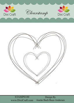 Hand Drawn Heart - Dixi Craft