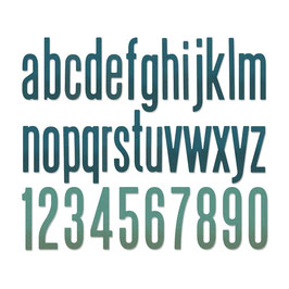 "Thinlits Die Set ""Alphanumeric Classic Lower"" - Sizzix"