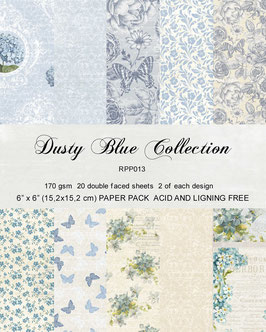 Dusty Blue 6x6 Collection Pack