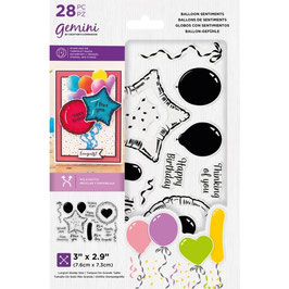 Balloon Sentiments Stamp & Die Set - Gemini