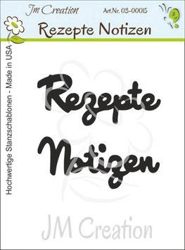 Rezepte / Notizen