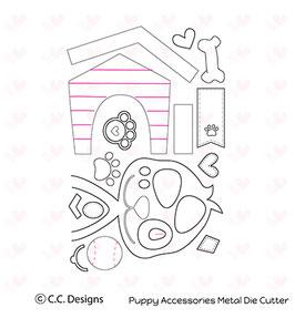 """Stanzschablone """"Puppy Accessories"""" - C.C.Designs"""